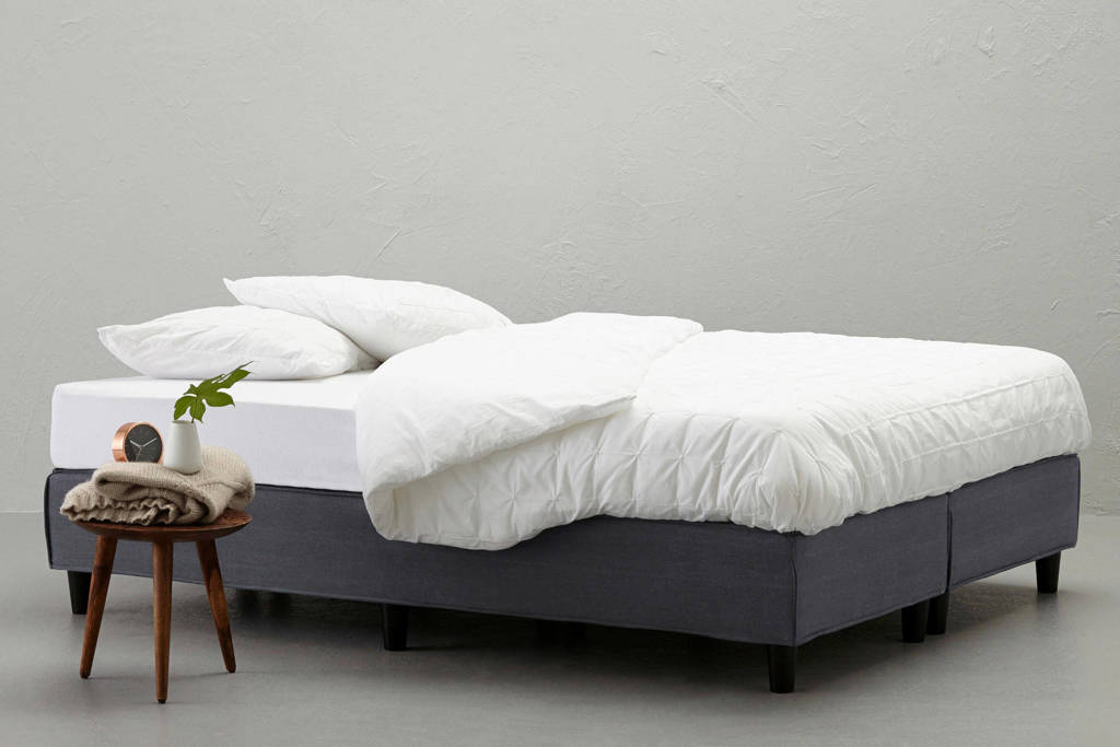 whkmp's own boxspring Falun (180x200 cm), Denim blue