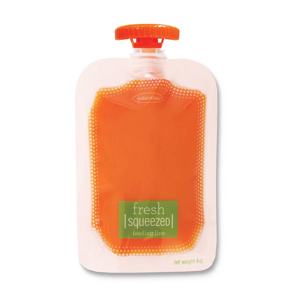 Infantino Feeding squeezed zakjes 50 pack, Transparant