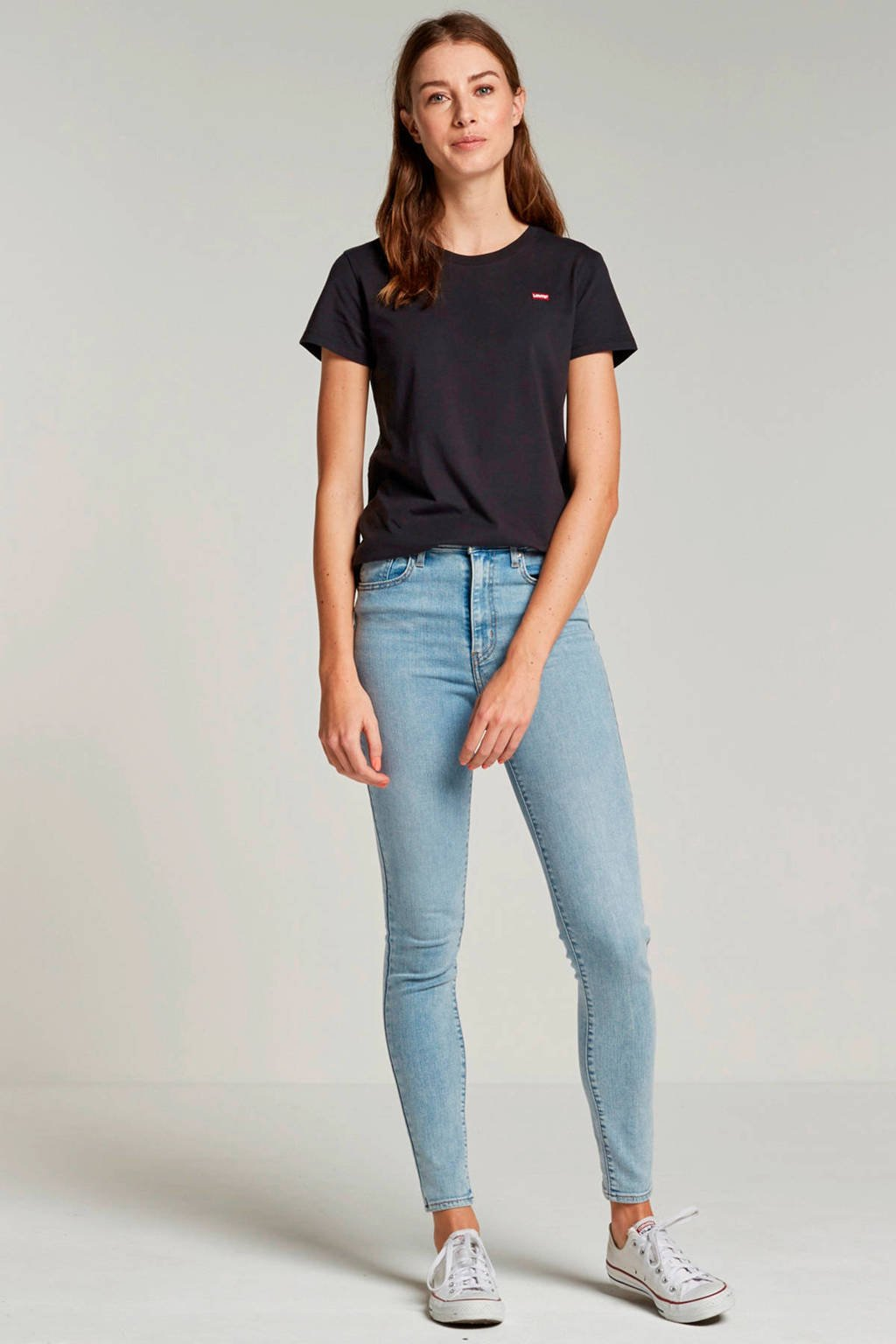 Levi's Perfect T-shirt, Zwart/rood/wit