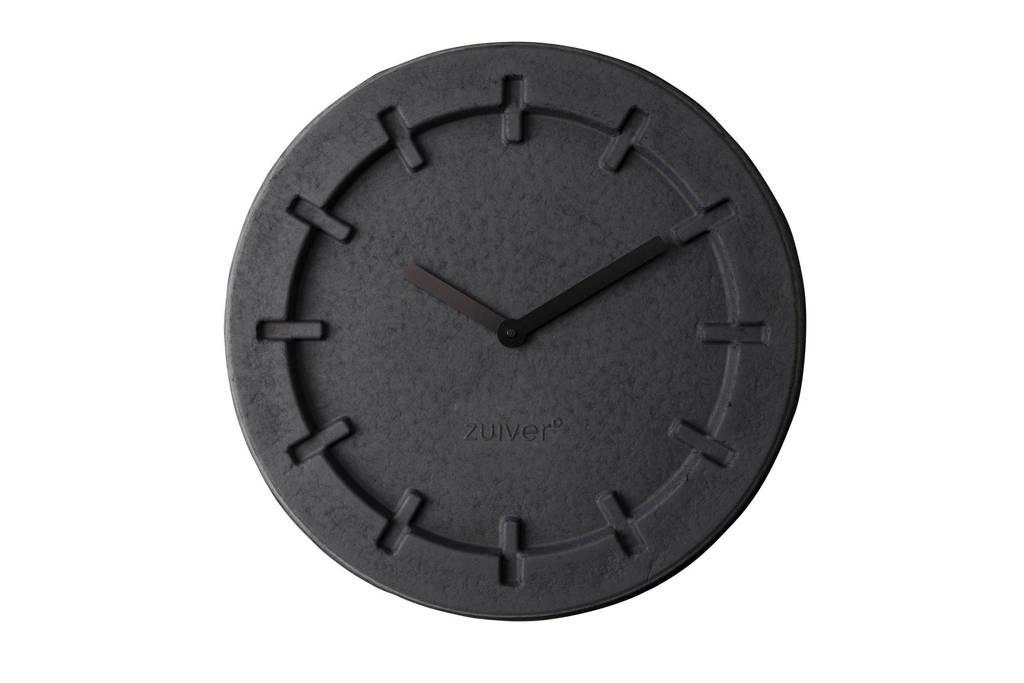 Zuiver Pulp Time klok (Ø46 cm), Zwart