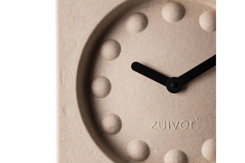 Zuiver Pulp Time klok (36x36 cm), Beige