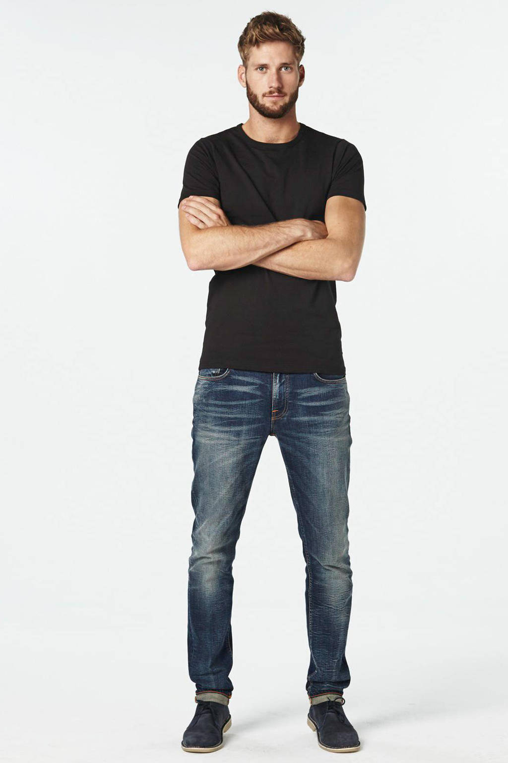 Jack & Jones T-shirt (set van 2), Zwart