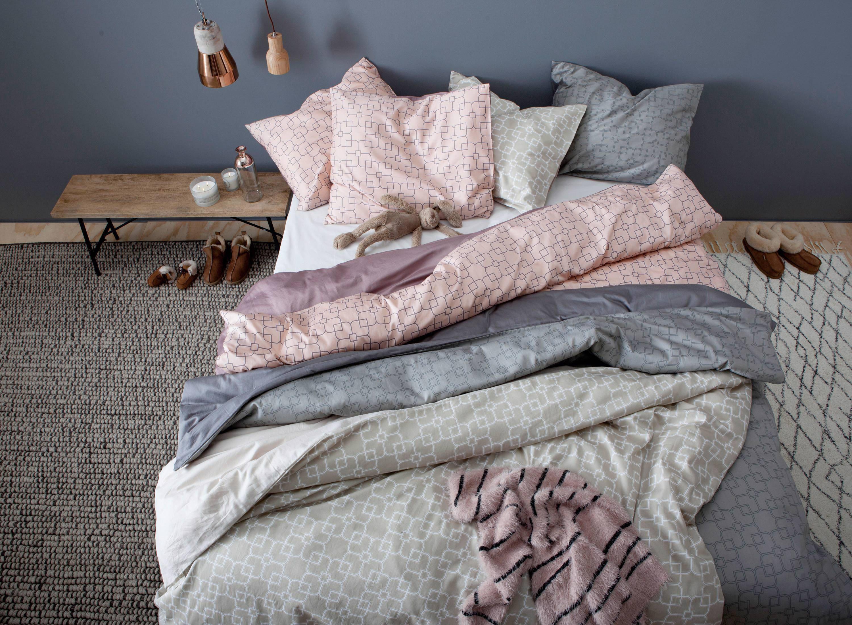 piet boon katoensatijnen dekbedovertrek lits jumeaux roze
