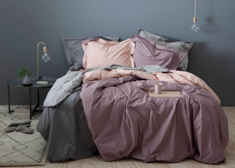 piet boon perkalkatoenen dekbedovertrek lits jumeaux roze