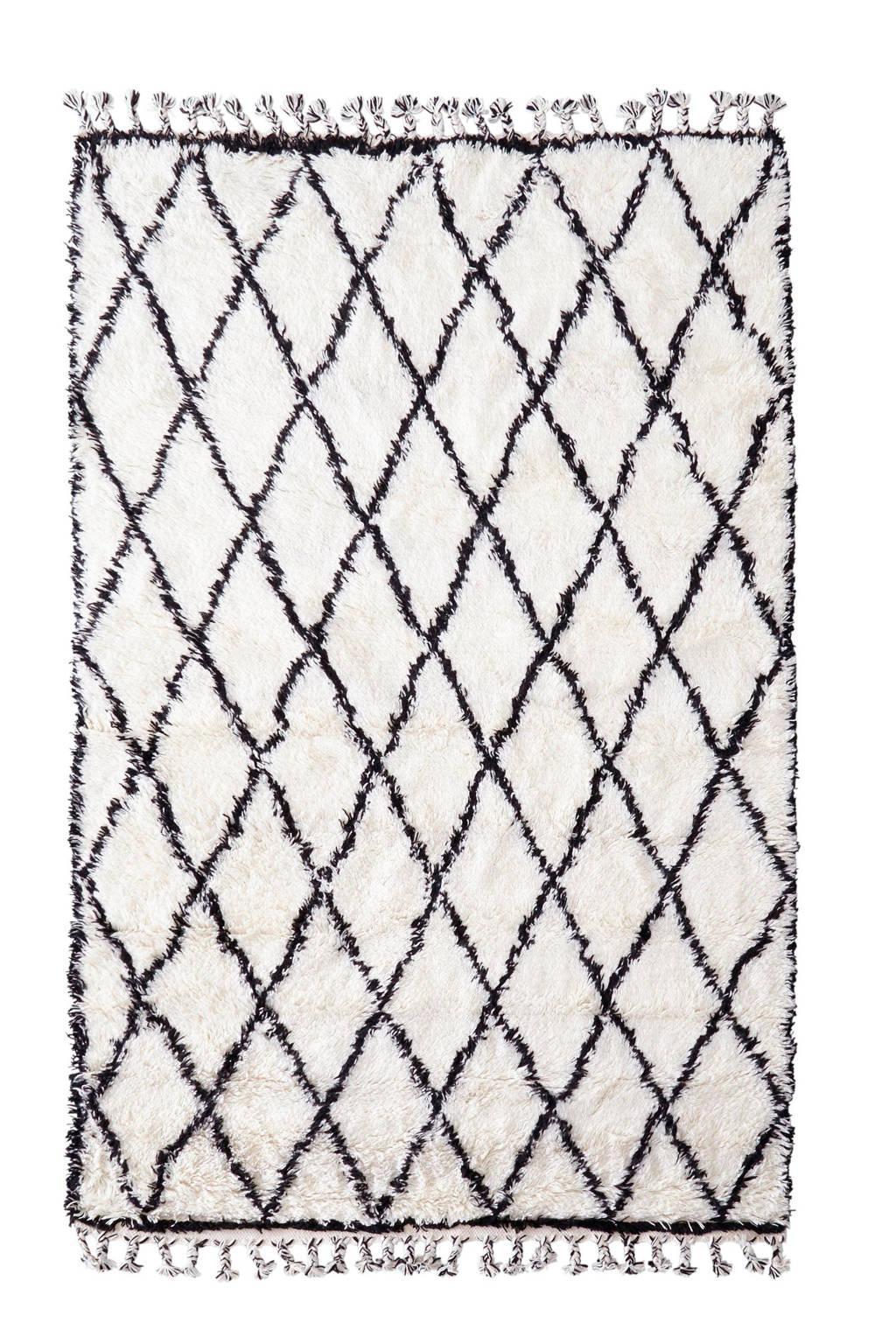 HKliving vloerkleed  (280x180 cm), Wit/zwart