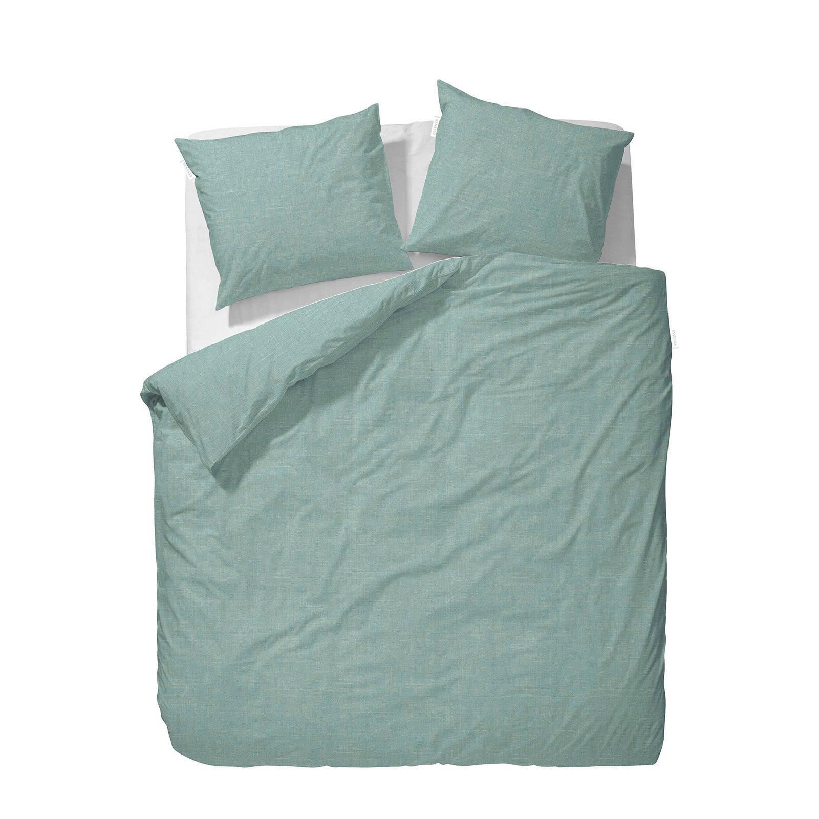 essenza katoenen dekbedovertrek lits jumeaux groen
