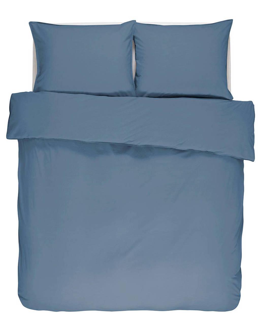 Essenza katoenen dekbedovertrek 1 persoons, Jeansblauw, 1 persoons (140 cm breed)