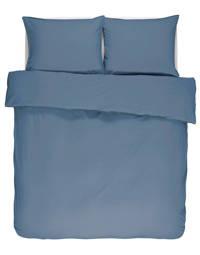 Essenza katoenen dekbedovertrek 2 persoons, Jeansblauw, 2 persoons (200 cm breed)