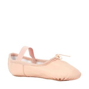 leren balletschoenen roze