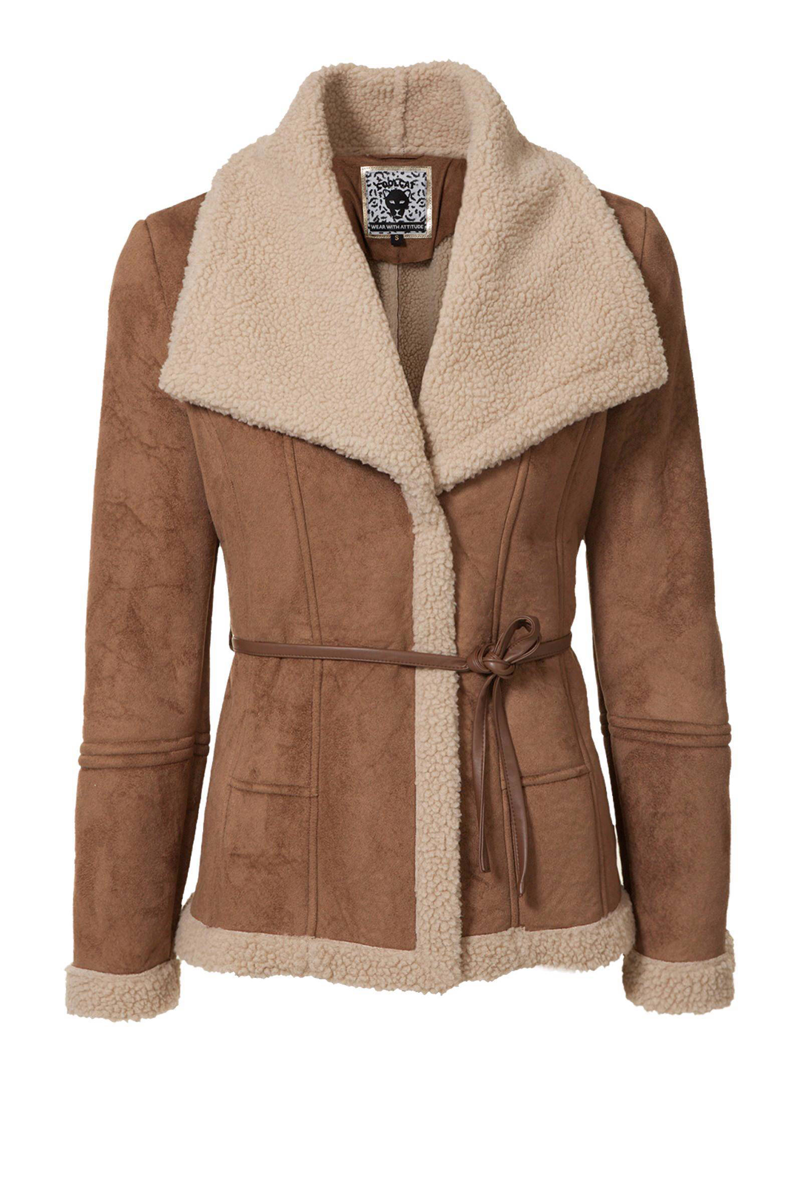 imitatie lammy coat dames