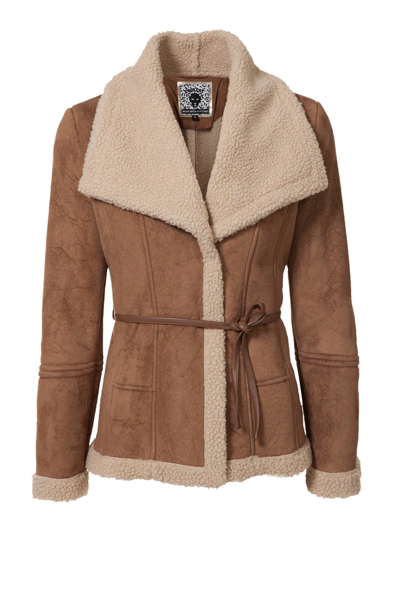 imitatie lammy coat dames
