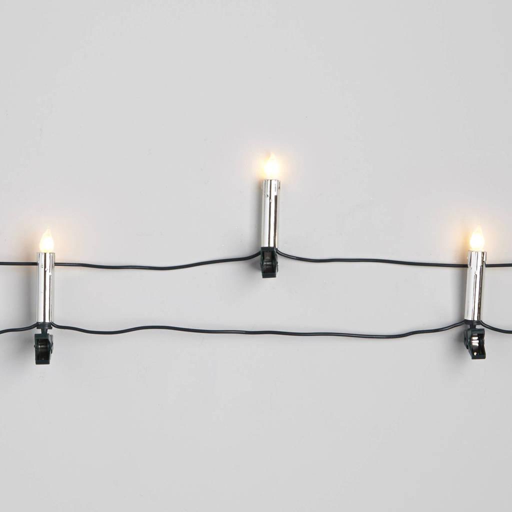 Konstsmide kerstverlichting (20 gloeilamp kaarsen), Zilver