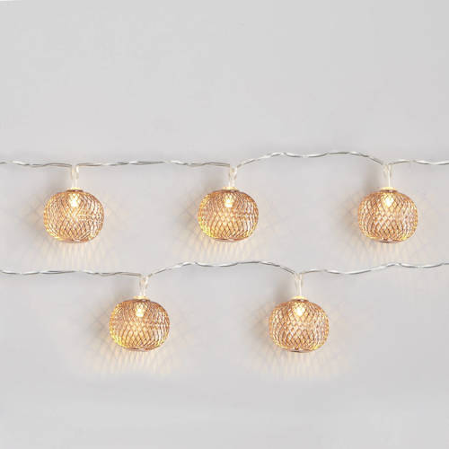 Bollen-lichtketting LED van metaal 10-lamps