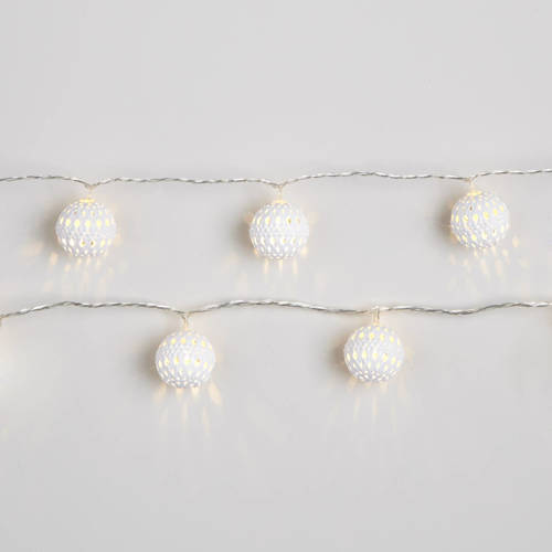 led lichtketting m metalen ballen warm wit 24 d