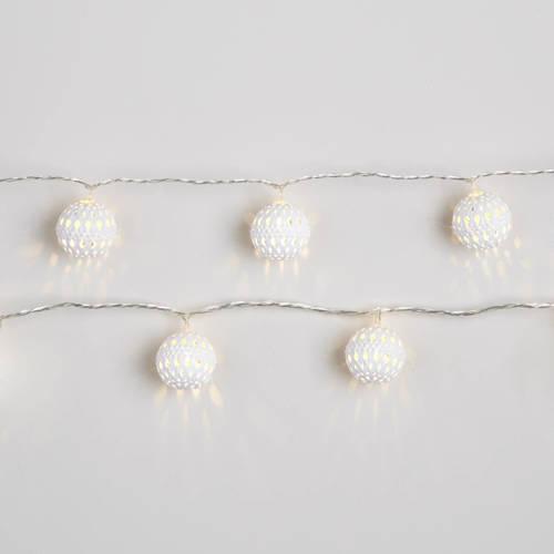 led lichtketting m metalen ballen warm wit 24 d