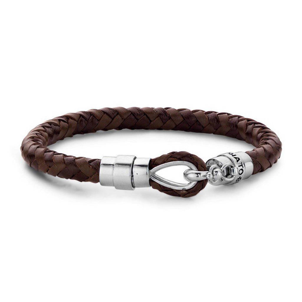 Buddha To Buddha Armband Leer.Maria Leren Armband