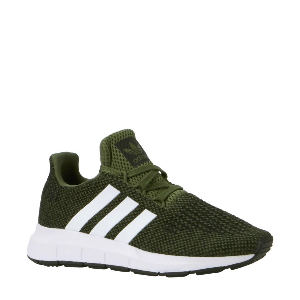fb767956bc5 adidas originals Swift Run C sneakers, Groen/ wit/ zwart