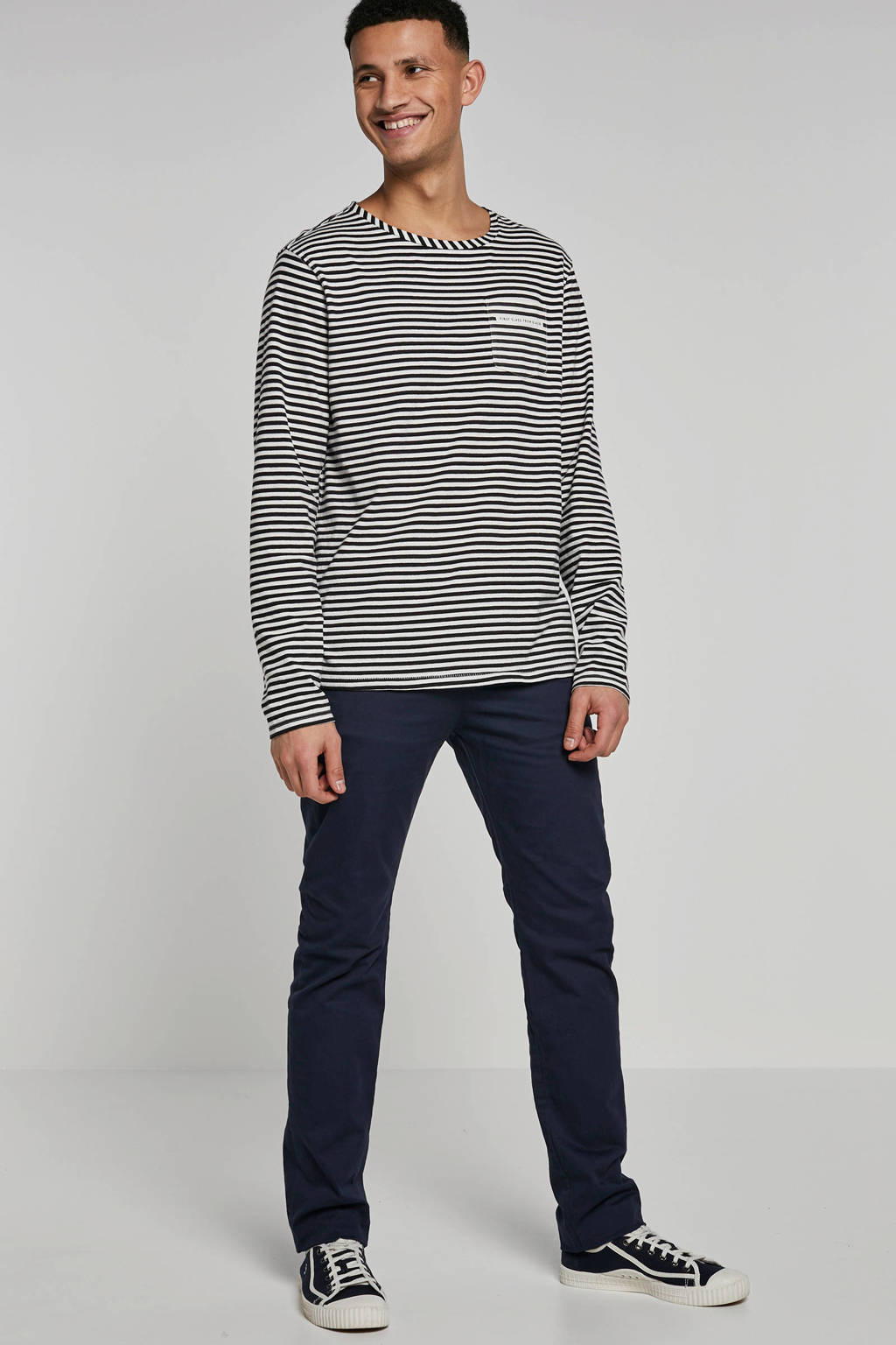WE Fashion Blue Ridge Bobby skinny fit chino marine, Marine