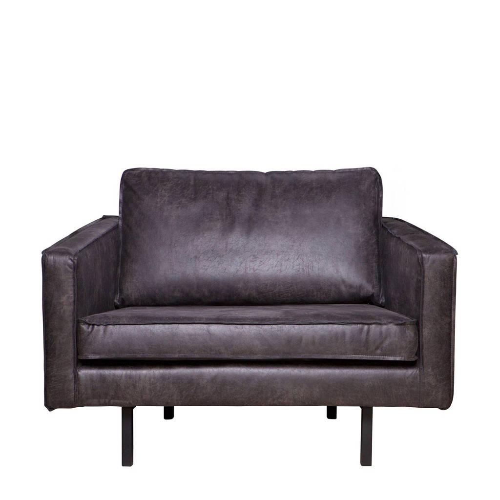 BePureHome fauteuil Rodeo, Zwart (eco leer)