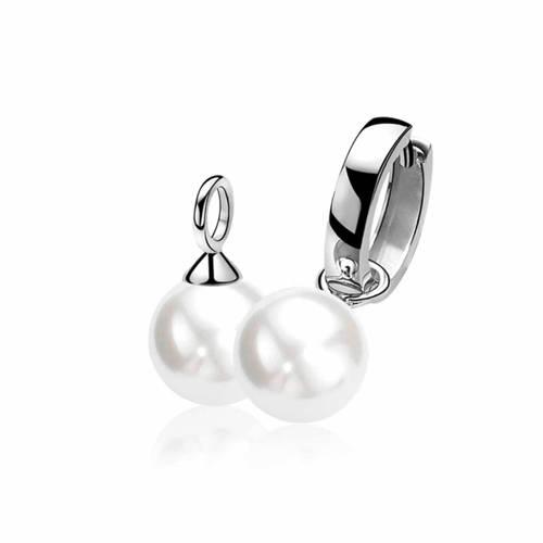 Zinzi zilveren oorhangers