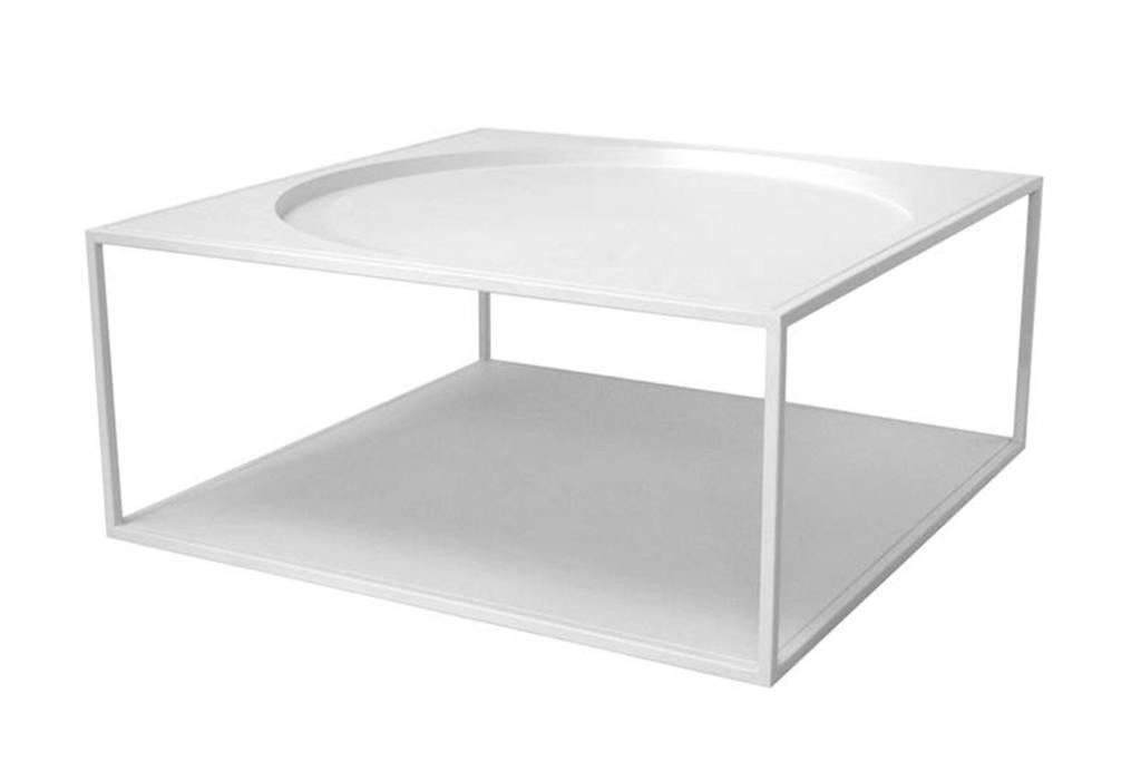 HKliving stalen salontafel, wit (mat)