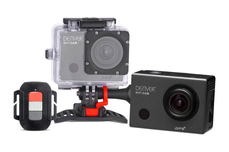 Denver ACG-8050W action camera, Zwart;Zilver