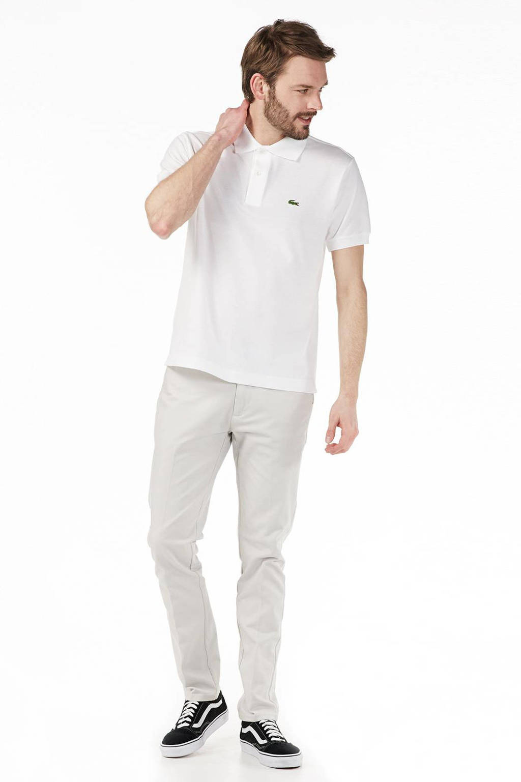 Lacoste polo, Wit
