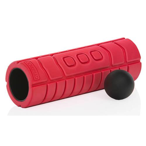 Gymstick travel foam roller met myofascial bal + instructievideo's kopen