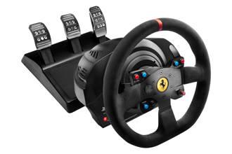 T300 Ferrari racestuurAlcantara met 3 pedalen (PS4/PS3/PC)