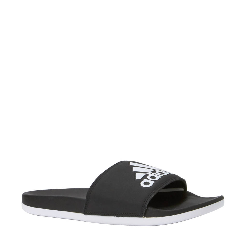 3010e2f9984315 adidas performance Adilette Cloudfoam Plus slippers, Zwart/wit