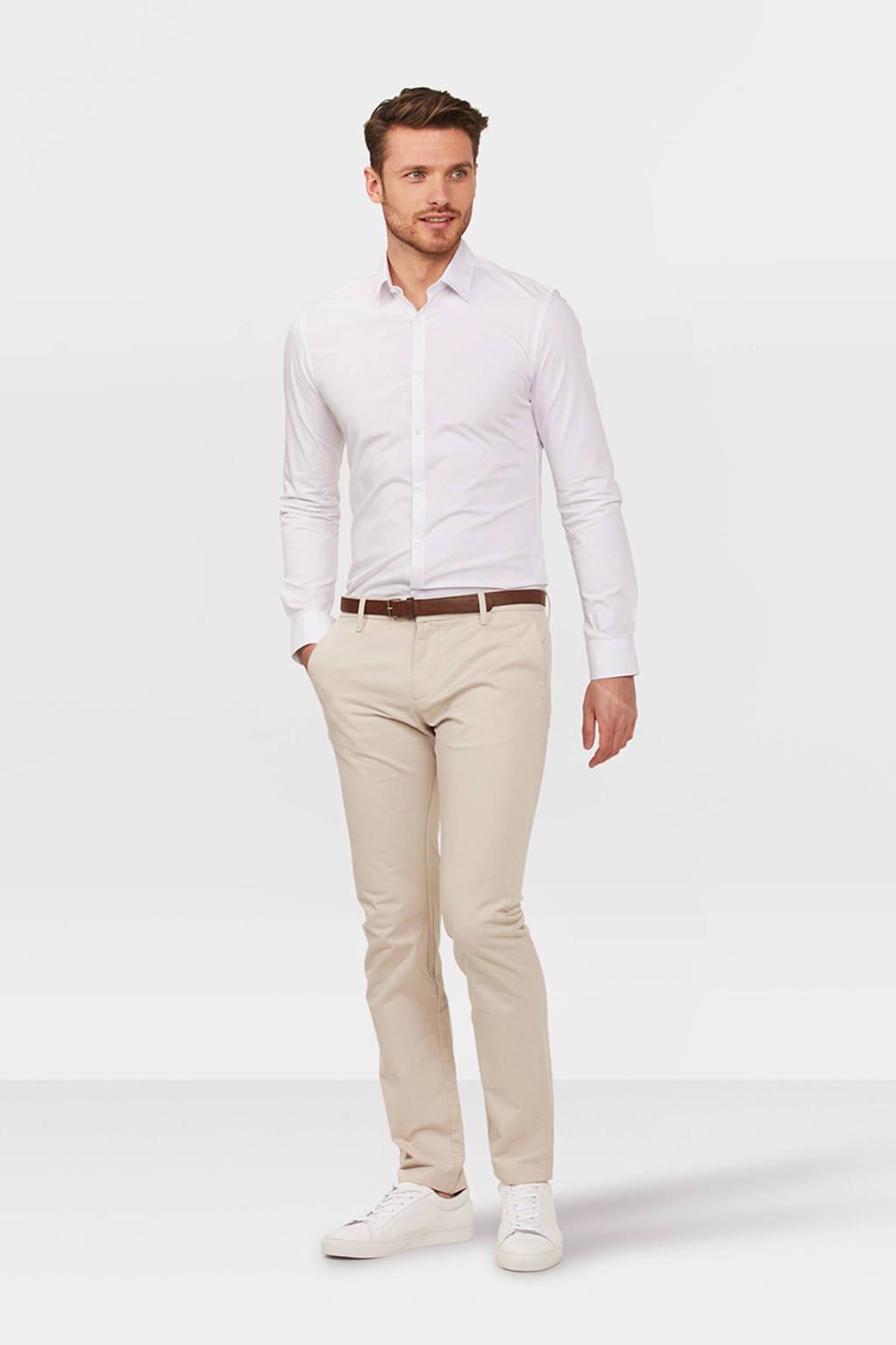 WE Fashion Blue Ridge Bobby skinny fit chino ecru, Ecru