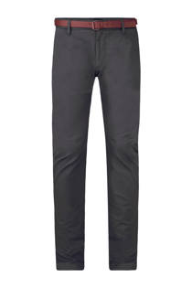WE Fashion Bobby slim fit chino donkerkaki (heren)