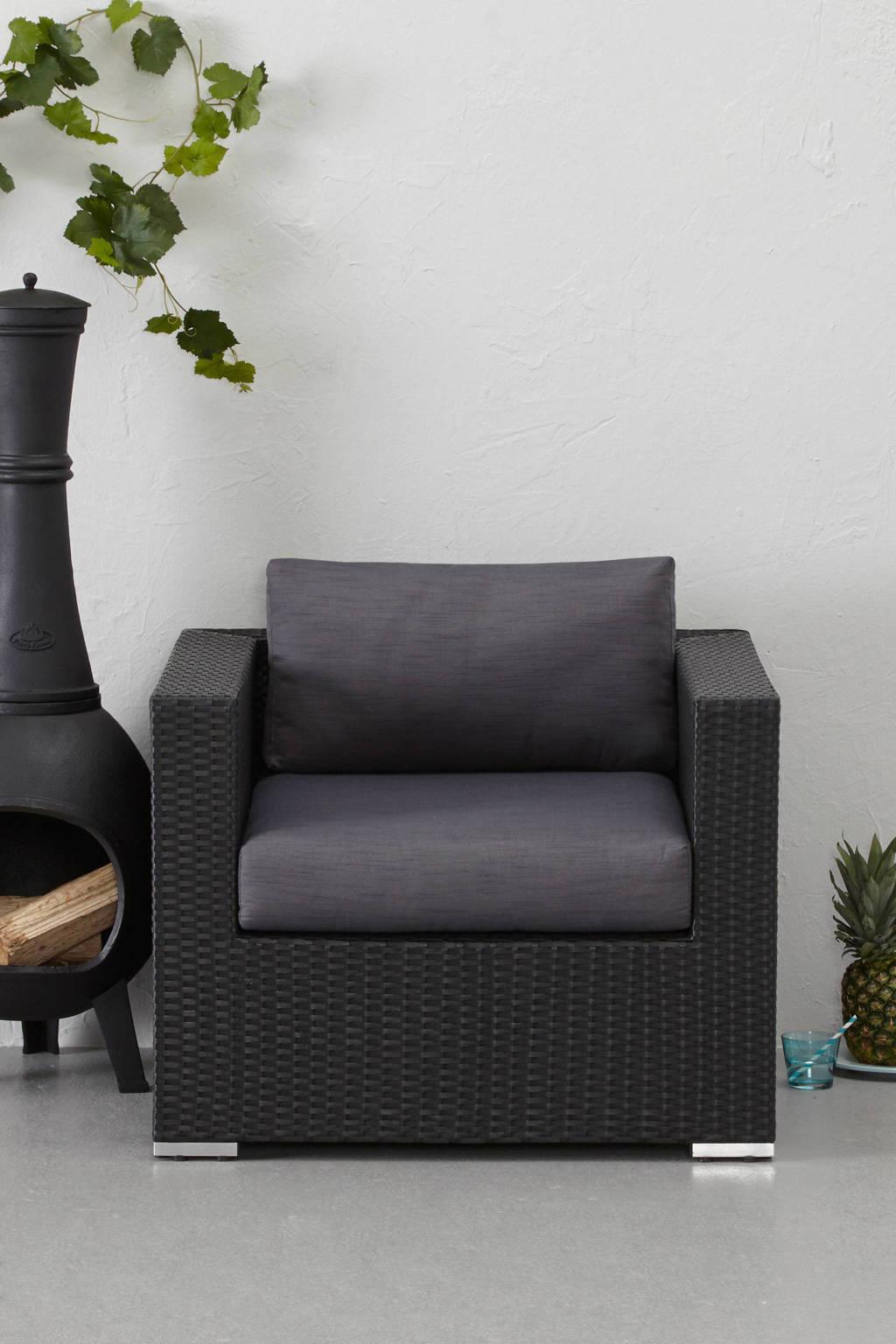 whkmp's own fauteuil St. Tropez (gratis extra hoezenset), Zwart