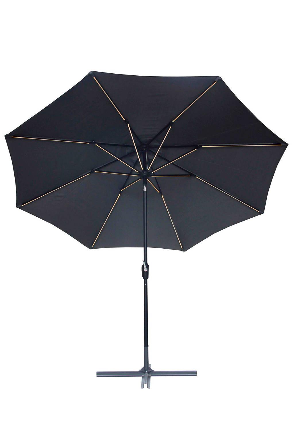 SenS-Line parasol LED (ø300 cm), Antraciet