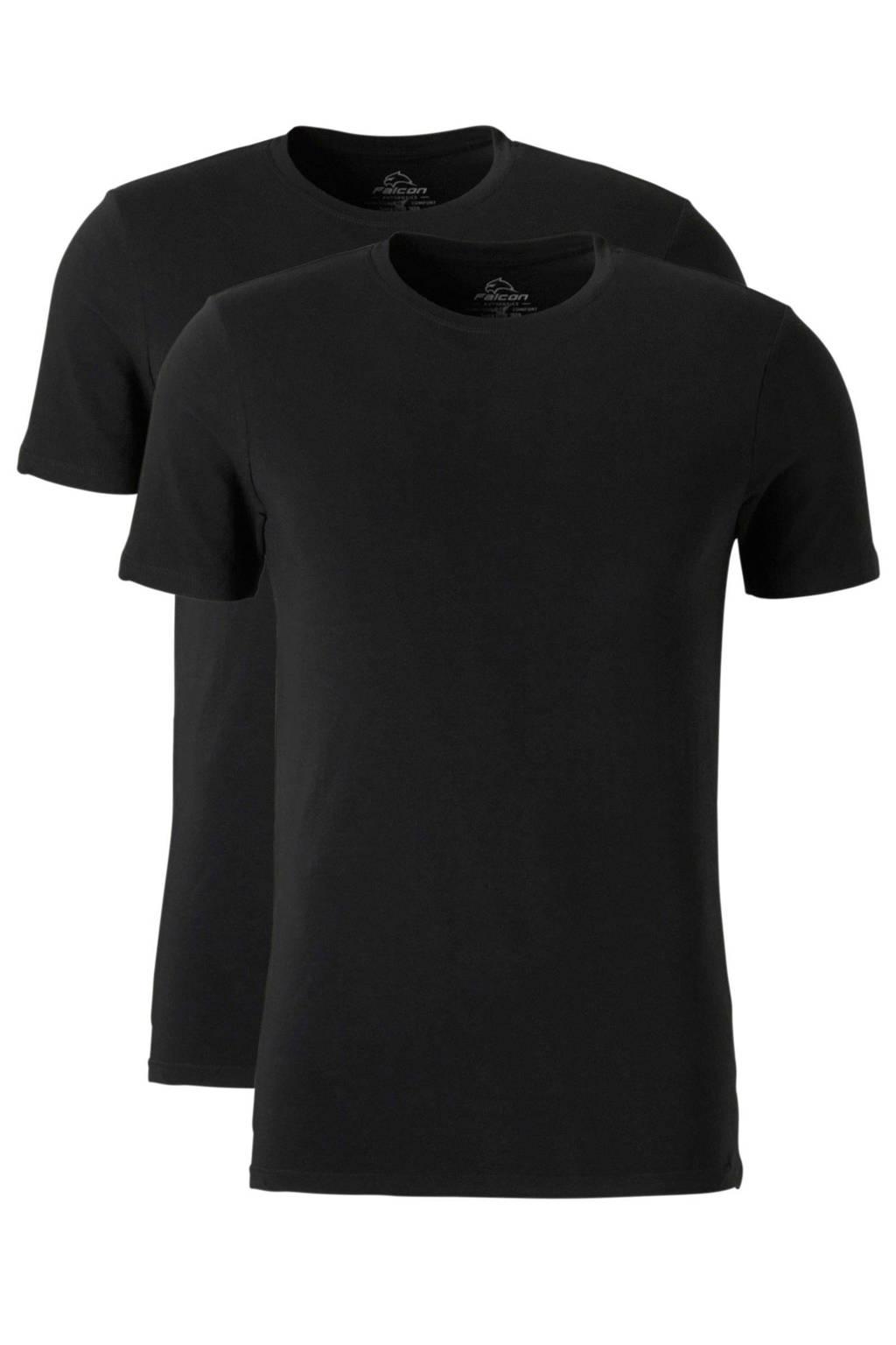 Falcon   sport T-shirt (set van 2) zwart, Zwart