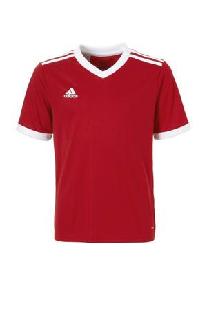 Junior  sport T-shirt Tabela rood/wit