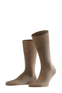 FALKE Airport sokken bruin, Bruin melange