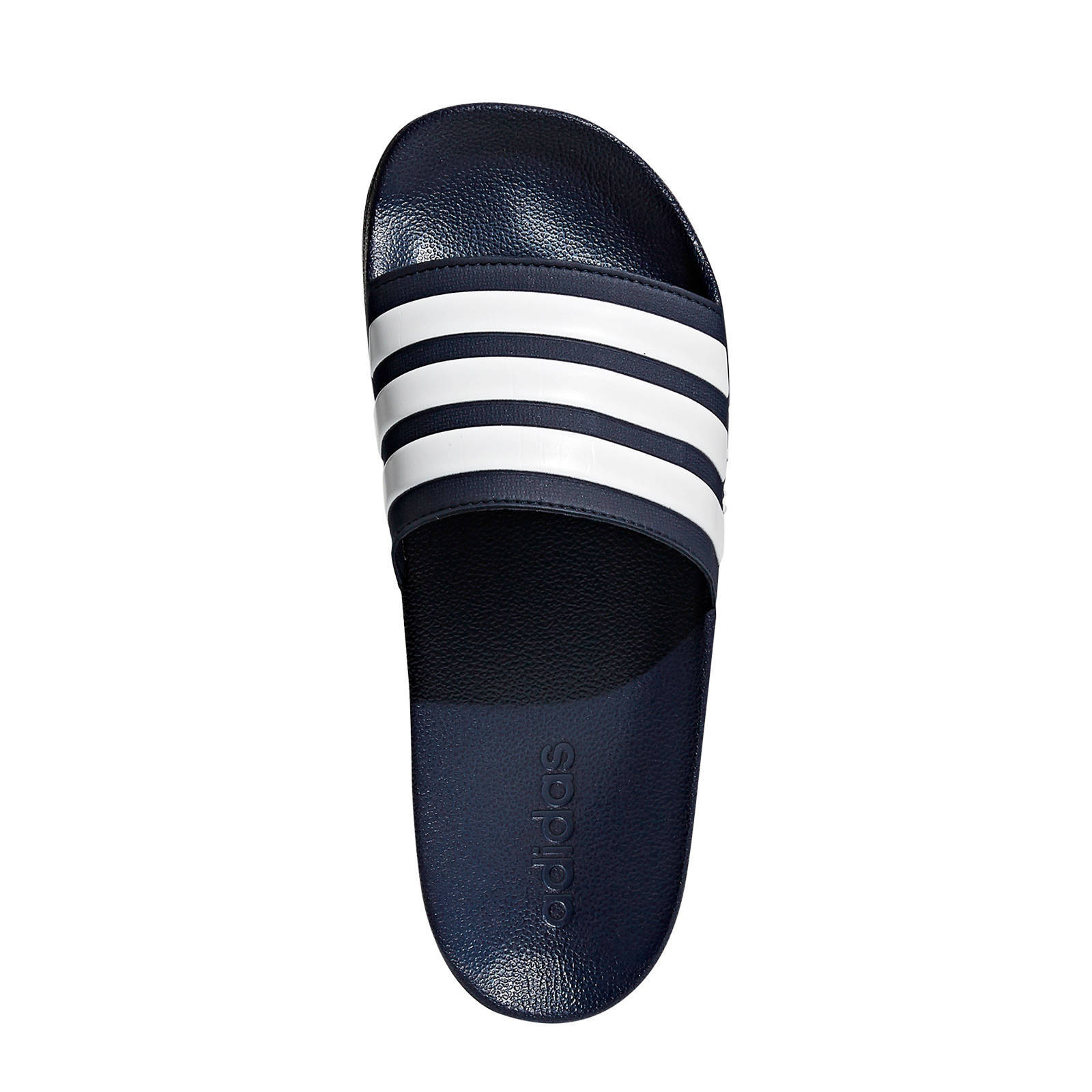 63bb3b4fd0b adidas performance Adilette shower badslippers donkerblauw/wit | wehkamp