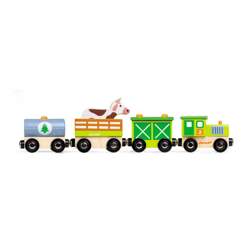 Janod story trein boerderij magnetisch