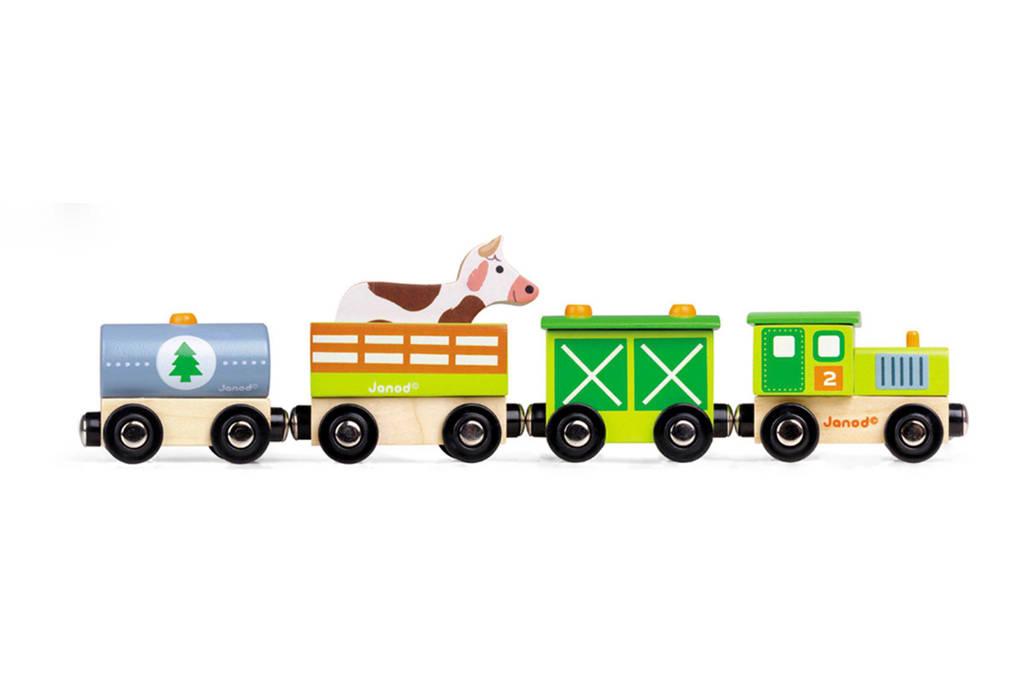 Janod houten Story trein boerderij