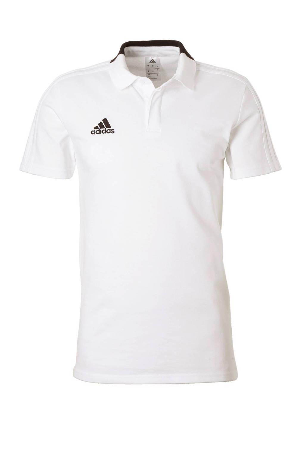 adidas performance   sportpolo Con18 wit, Wit/zwart