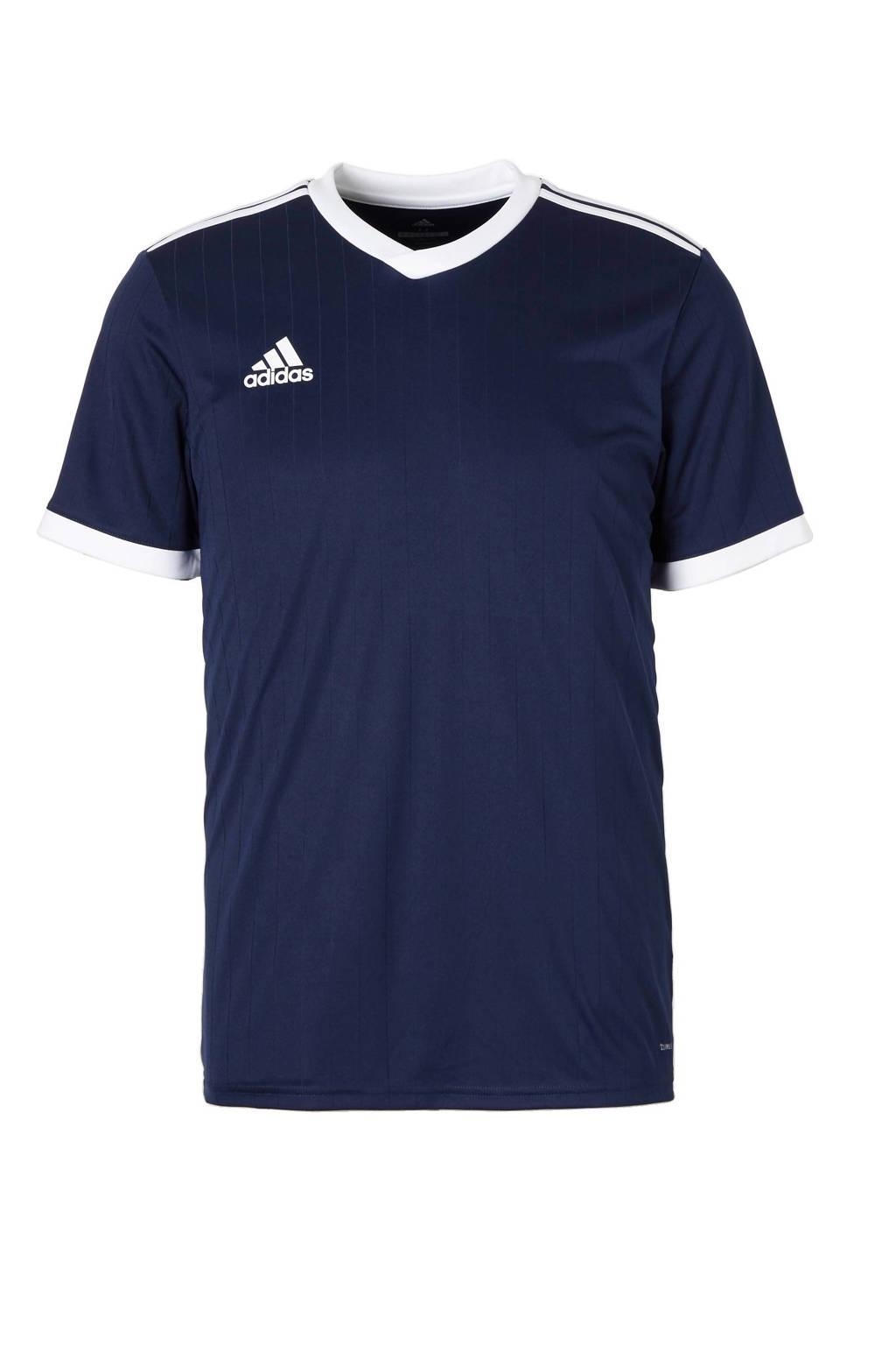 adidas Junior  sport T-shirt Tabela donkerblauw/wit, Donkerblauw/wit, Jongens/meisjes