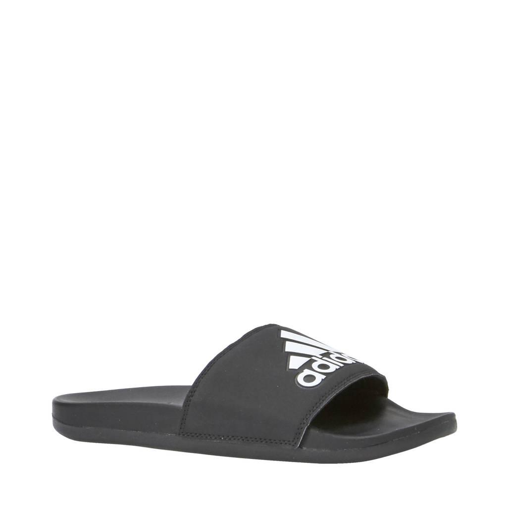 adidas   slippers, Zwart/wit