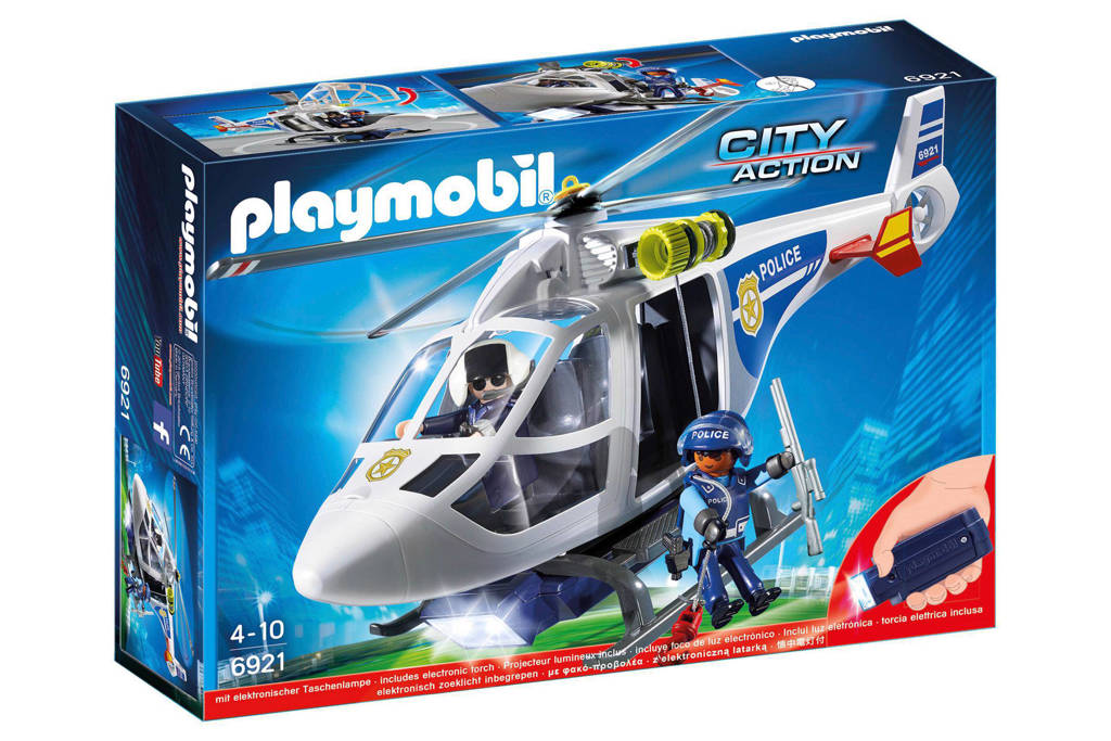 Playmobil City Action  politiehelikopter met zoeklicht
