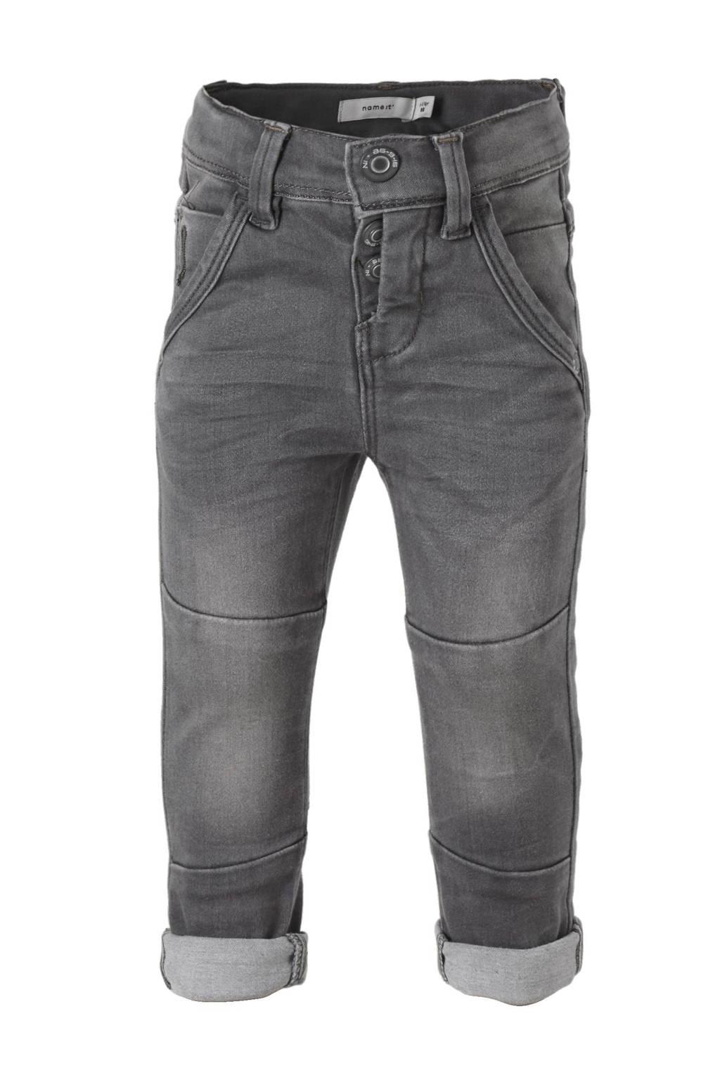 name it MINI Theo x-slim fit jeans, Light Grey Denim