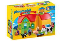 Playmobil 1-2-3 Meeneemboerderij met dieren 6962
