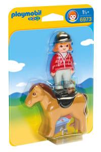 Playmobil 1-2-3 ruiter met paard 6973