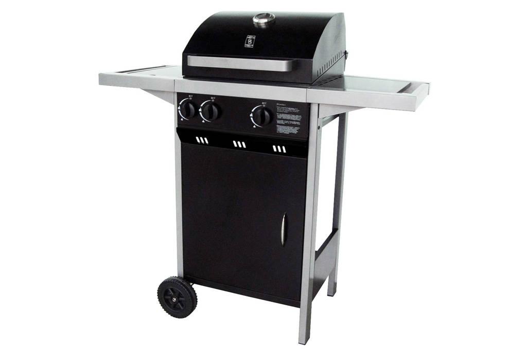Garden Grill Optima 2.1 gasbarbecue, Zwart/antraciet