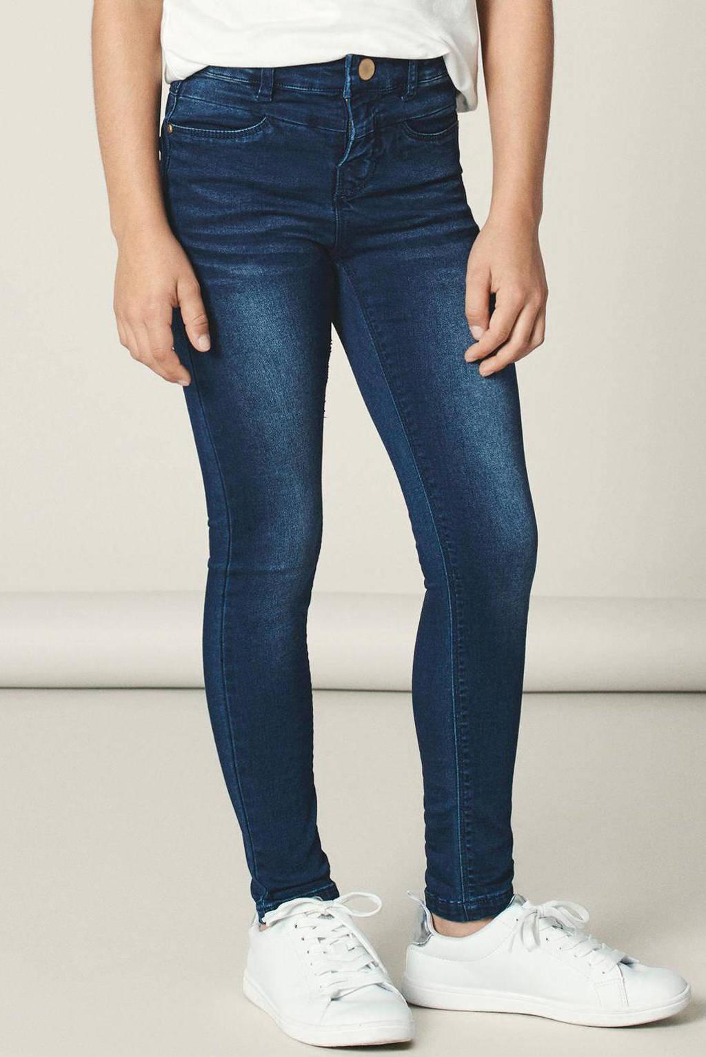 NAME IT KIDS skinny fit jeans NKFPOLLY dark denim, dark denim blue