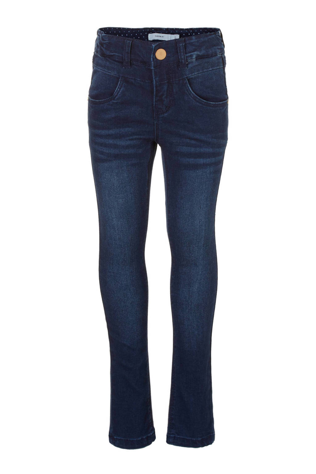 name it KIDS Polly skinny fit jeans, dark denim blue